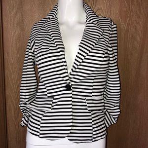 Charlotte Russe black and white blazer